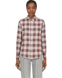 Red flannel plaid shirt medium 53921