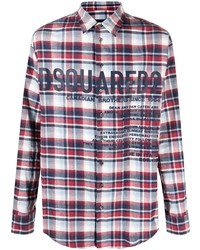 DSQUARED2 Logo Print Flannel Shirt