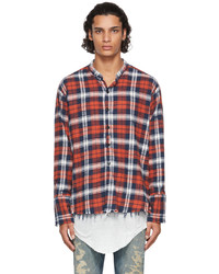 Greg Lauren Red Plaid Classic Shirt