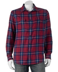 Big Tall Sonoma Goods For Lifetm Classic Fit Plaid Button Down Shirt