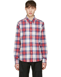 Noah nyc red plaid pocketed shirt medium 1148013
