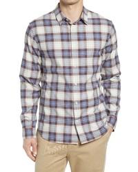 Vince Plaid Button Up Shirt