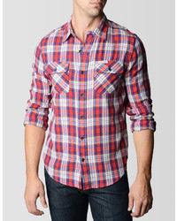 True Religion Plaid Flannel Workwear Shirt