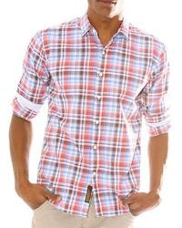 191 Unlimited Red Plaid Woven Shirt