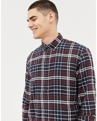 Tom Tailor Slim Fit Check Shirt In Soft Touch