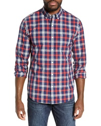 Bonobos Washed Slim Fit Plaid Sport Shirt