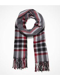 Express Plaid Fringed Scarf