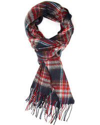 Forever 21 Frayed Plaid Scarf