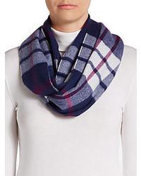 Saks fifth avenue black plaid cashmere scarf medium 107760