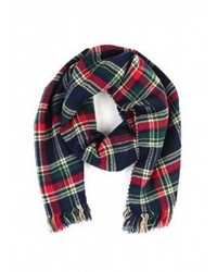 Simplysoles simply soles double side plaid scarf medium 94654