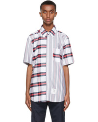 Thom Browne Multicolor Striped Straight Fit Short Sleeve Shirt
