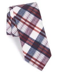 Todd snyder white label plaid cotton tie size regular blue medium 442385