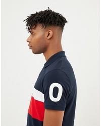 Jack & Jones Core Polo Shirt With And Sleeve Print