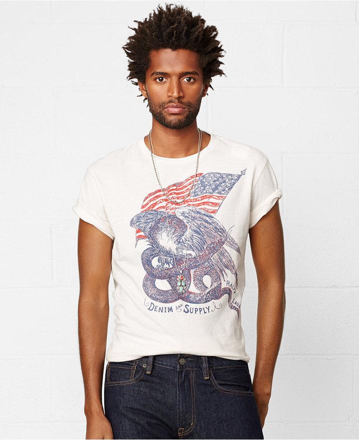 ... Denim & Supply Ralph Lauren American Flag Graphic T Shirt ...