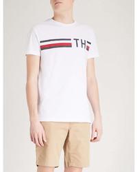 Tommy Hilfiger Logo Print Cotton Jersey T Shirt
