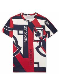 Moncler C Slim Fit Appliqud Printed Cotton Jersey T Shirt