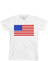 American Apparel Usa Flag T Shirt Merica American Tee Made In Usa New With Tags