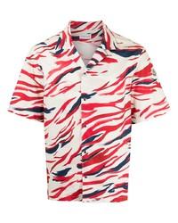 Moncler Surf Print Short Sleeve Shirt