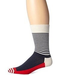 White and Red and Navy Socks