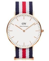 Daniel Wellington Classic Canterbury Nato Strap Watch 36mm