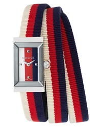 Gucci G Frame Rectangular Nylon Watch