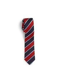 Oscar de la Renta Boys Striped Silk Tie Navy Red