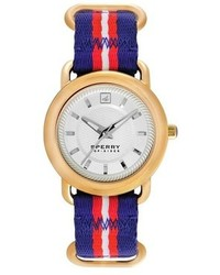 Sperry Top Sider Hayden Round Nylon Strap Watch 36mm