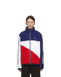Polo Ralph Lauren Blue And Red Chariots Jacket