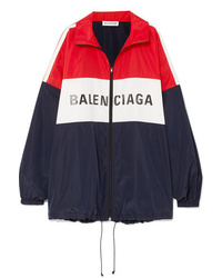 Balenciaga Oversized Color Block Printed Shell Jacket