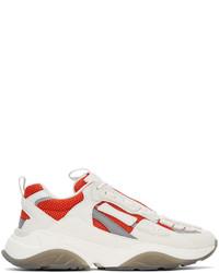 Amiri Off White Red Bone Runner Sneakers