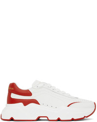 Dolce & Gabbana White Red Daymaster Sneakers