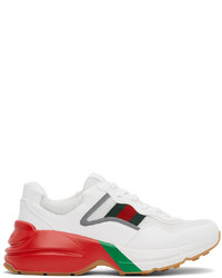 Gucci White Red Rython Sneakers
