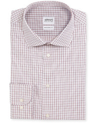 Modern fit box check dress shirt whitered medium 442458