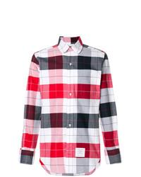 Thom Browne Plaid Round Collar Shirt