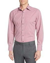 Nordstrom Men's Shop Tech Smart Traditional Fit Stretch Check Dress Shirt