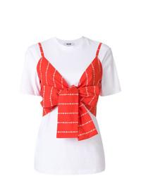 MSGM Crop Top Layered T Shirt