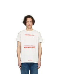 Han Kjobenhavn Off White And Red Artwork T Shirt