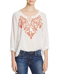 Vero Moda Embroidered Gauze Blouse