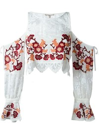 For Love And Lemons Flower Embroidered Blouse