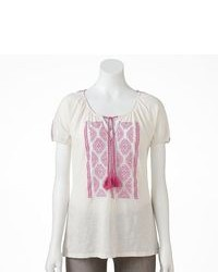 Sonoma Life Style Embroidered Peasant Top