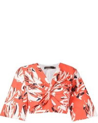 Andrea Marques Floral Cropped Blouse