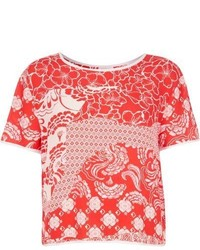 River Island Red Floral Print T Shirt