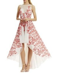 Nicole Miller New York Embroidered Hi Lo Dress