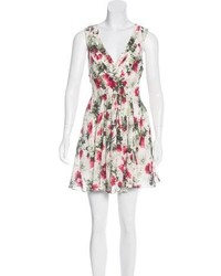 Elizabeth and James Silk Mini Dress