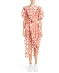 Simone Rocha Embroidered Puff Sleeve Dress