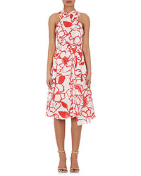 Floral silk crepe crisscross dress medium 4312308