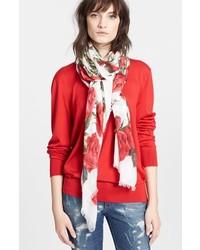 Dolce & Gabbana Dolcegabbana Floral Print Modal Cashmere Scarf