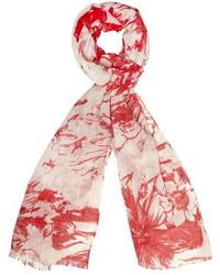 Dorothy Perkins Coral Sketchy Floral Scarf