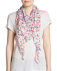 Floral print scarf medium 257242