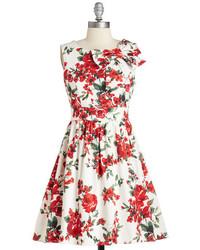 Ixia The Pennsylvania Polka Dress In White Floral